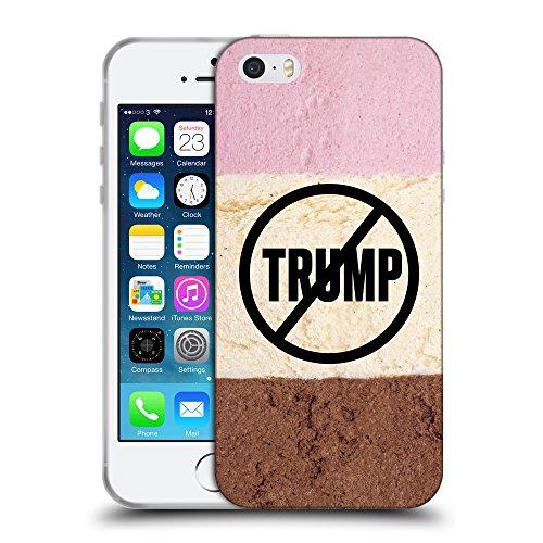Super Galaxy Coque de Protection TPU Silicone Case pour // Q04110529 Jamais Trump chocolat // Apple iPhone 5 5S 5G SE