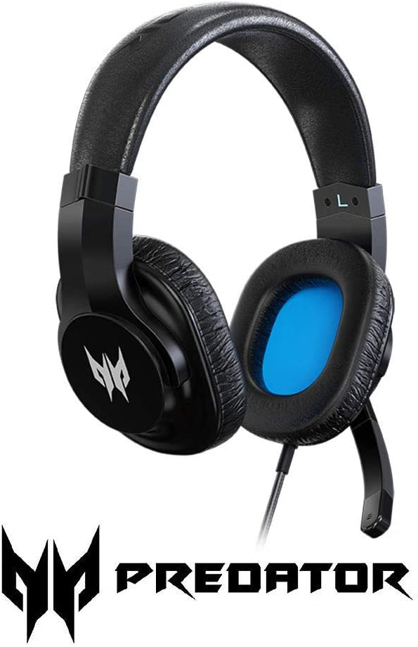 Acer Predator Galea 310 True Harmony Sound Gaming Headset: 40mm Drivers - Rotatable Omni-Directional Mic - Black, One Size (Renewed)