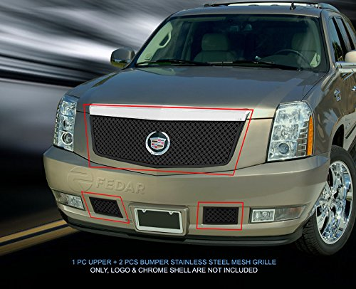(Fedar Dual Weave Mesh Grille for 2007-2014 Cadillac Escalade Selected Models)