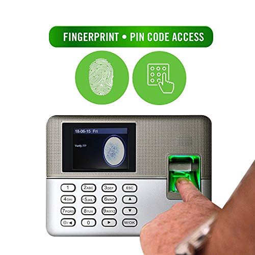 Timedox Silver D Biometric Fingerprint Time Clock for Employees   $0 Monthly Fee   One Time Payment for The Software Required   Include USB Flash Drive & Dynamic Reports Creator   USA Support by Timedox (Image #2)