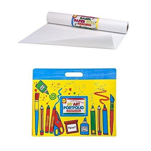 Alex Art Portfolio and Paper Roll (18x75') Weiß Bundle by Bundles of Fun