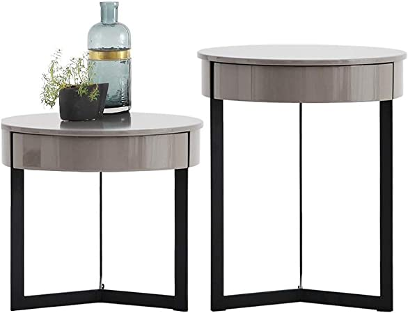Table d/'appoint Noir-Gris Environ table basse armoire table table de nuit Table basse
