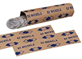 PM Company $2/SecurIT Kraft Flat Nickel Coin Wrappers, 4 Inches Length, Brown/Blue, 20,000/Carton (53005)