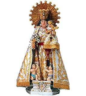 DRW Virgen de los Desamparados 18 cm patrona de Valencia de Resina con Caja de Estuche con la Historia: Amazon.es: Hogar
