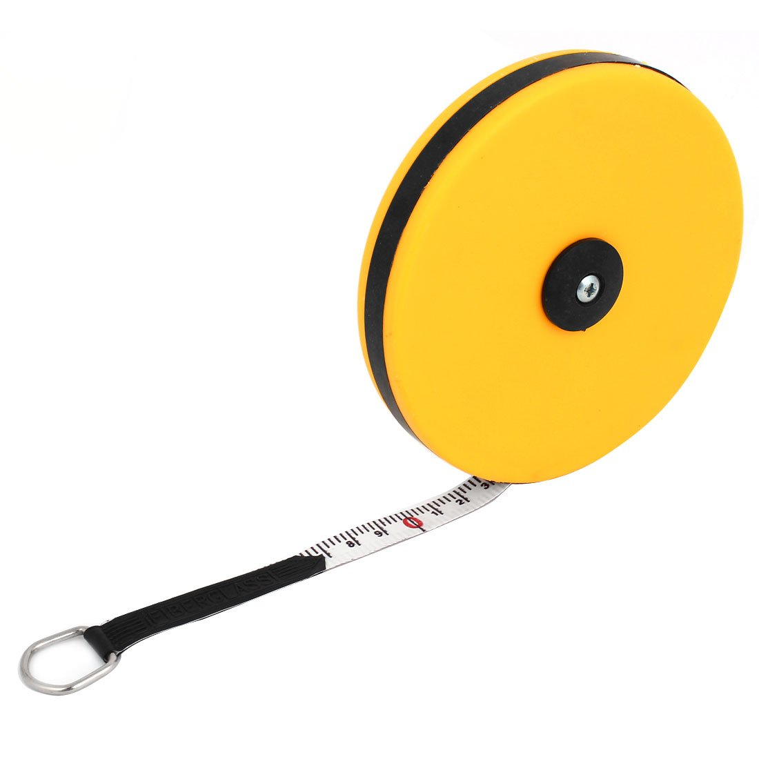 Yellow Fiberglass Retractable Metric Ruler Measure Tape 20M 65Ft