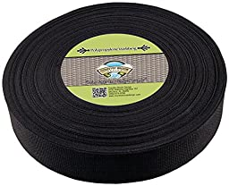 Country Brook Design 2 Inch Heavy Black Polypro Webbing, 25 Yards