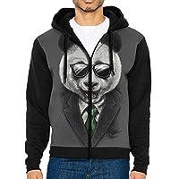 TTTFU 3D Printed Drawstring Mens Hoodies Sweatshirt Fashion Casual Coat Outdoor Hip-Hop Funny Tops Full Zip Hoodie