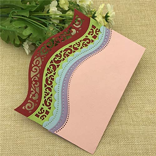 Amazon.com: Arts Crafts 6Pcs Vintage Lace Embrossing Curved Wavy Border Edge Metal Cutting Dies Embossing Scrapbooking Paper Card Making DIY Card