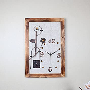 wall clock Ping0fm Ping0fm Relojes antiguos reloj de pared de madera mute salón grande del reloj