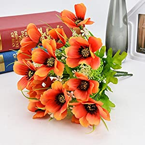 Mynse Silk Flowers for Home Offcie Wedding Decoration Props Artificial Flower Bouquet 67
