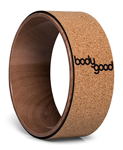Cork Yoga Wheel by BodyGood. 13 Inch, Dharma Yoga Prop for Improving Back Bends, Deepening your Practice or Unlocking Tight Muscles. Durable Support up to 500 lbs - Glasses Promo Brands All Code