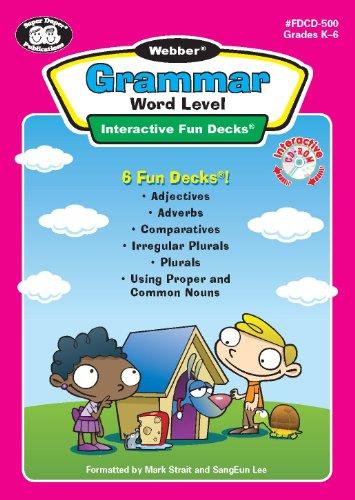 Webber Grammar Word Level Interactive Fun Decks CD-ROM - Super Duper Educational Learning Software for Kids