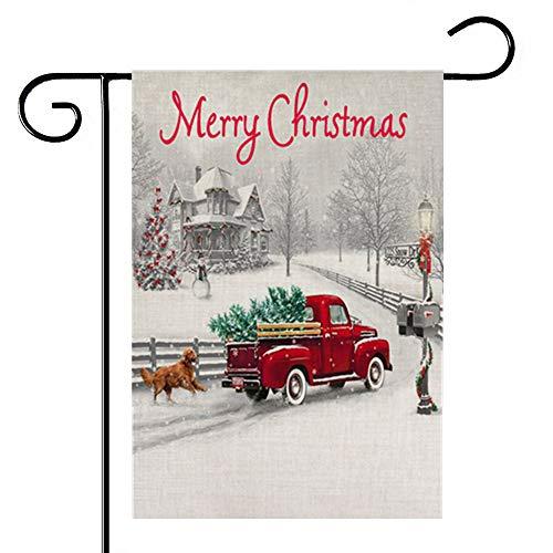 AUMIAU Merry Christmas Garden Flag House Yard Decorative Car Double Sided Seasonal Garden Flags,Kids Christmas Flag 12.5 x 18 inch