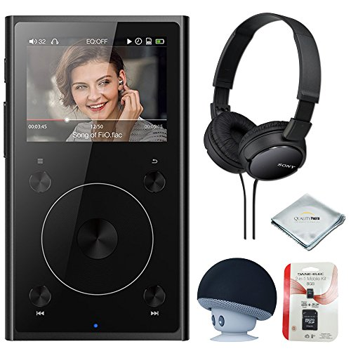 FiiO X1 2nd Gen (Black), mp3 Player - High Resolution Lossless, Portable, Bluetooth Music Player + MicroSD Card + Headphone & Speaker by Quality photo