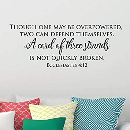 Amazon.com: Wall Quote Decal A Cord of Three Religious Bible ...