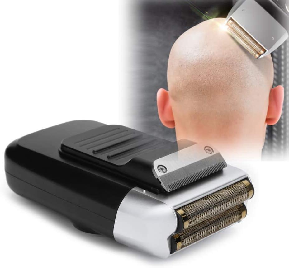 Afeitadora eléctrica de láminas, cortadora de barba, cabeza calva, afeitadora recargable USB, cabezal de lavado, cortadora de cabello eléctrica calva, maquinilla de afeitar para bigote LCD para hombre