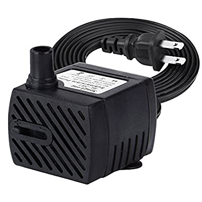 Minerva Submersible Water Pumps For Aquarium, Tabletop fountains, Pond, Water gardens and Hydroponic systems with Two Nozzles, CE-ROHS Approved, 5.8ft Power Cord,63 GPH,400 GPH, 1050GPH