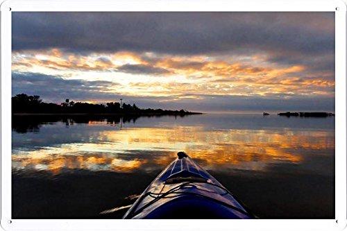 20x30cm By Nature Scene Painting Tin Sign Poster Kayak S Horizon