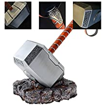 Gmasking Metal Mjolnir Thor Solid Adult Hammer Collectible 1:1 Replica