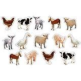 Carson Dellosa Farm Animals: Photographic Shape Stickers (168013)