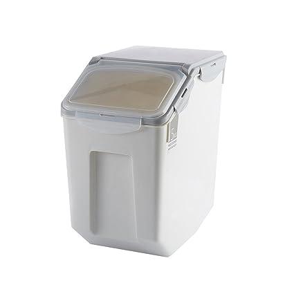 Estante de baño Rectángulo de Plástico Gris Cofre de Arroz Hermético 1-tier Jar Jarra