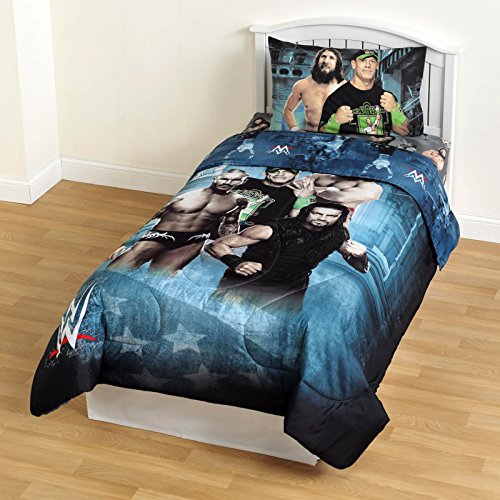 WWE Microfiber Comforter Children Bedding Superstars Twin Size Comforter for Boys by WWE