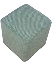 MagiDeal Stretch Opslag Poef Hoes Elastische Rechthoek Poef Sofa Cover Folding Kruk - Groen