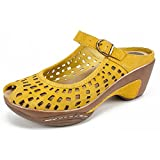 WHITE MOUNTAIN Shoes MARVY Women's Mule, Mustard/Suede, 8H M