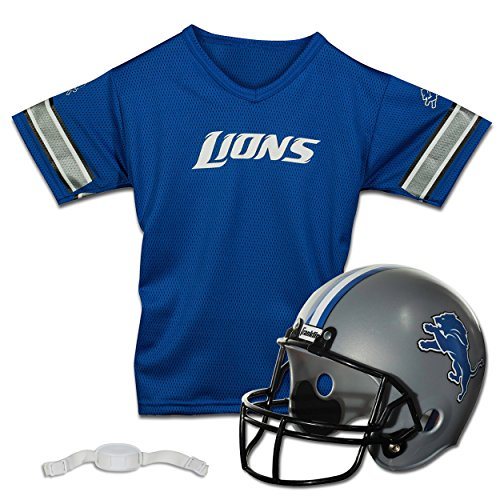 ... Franklin Sports NFL Detroit Lions Replica Youth Helmet and Jersey Set  ... b709740eb
