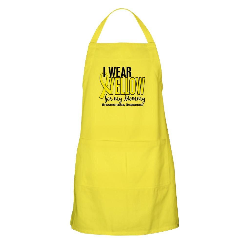 CafePress I Wear Yellow 10 Endometriosis グリルエプロン イエロー 062982812529A30  レモン B073X4F6T1