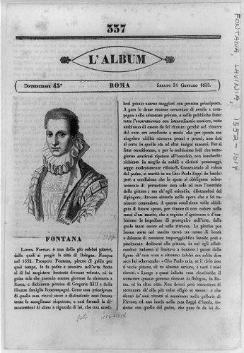 Photo: Lavinia Fontana,Italian painter,women,School of Bologna,text,L'album,1835