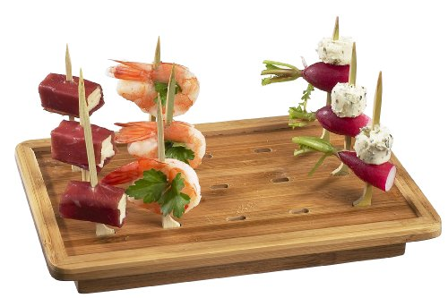 Solia VO12930 Bamboo Laminated Board for Golf Skewers, 9.8'' Length x 7.9'' Width (Case of 10) by Solia