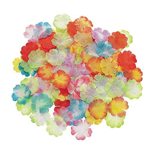 Fun Express - Assorted Mini Bright Flower Petals for Summer - Party Decor - General Decor - Confetti - Summer - 1000 Pieces (Bright Petal)