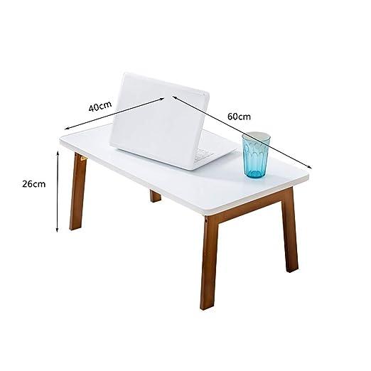 Bandejas para cama-LiuJF Mesa rectangular, cama de bambú ...
