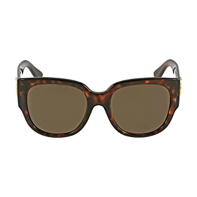 ef0e0df3a78 Image Unavailable. Image not available for. Color  Gucci Asia Fit Square  Havana Ladies Sunglasses ...