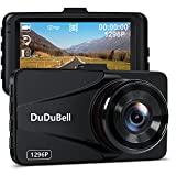 Dash Cam, DuDuBell 2K DVR 1296P Car Camera with 3.0'' LCD Screen, 170 Wide Angle Car Dashboard Recorder with 6G Enhanced Night Vision G-Sensor HDR Loop Recording, Alloy Shell
