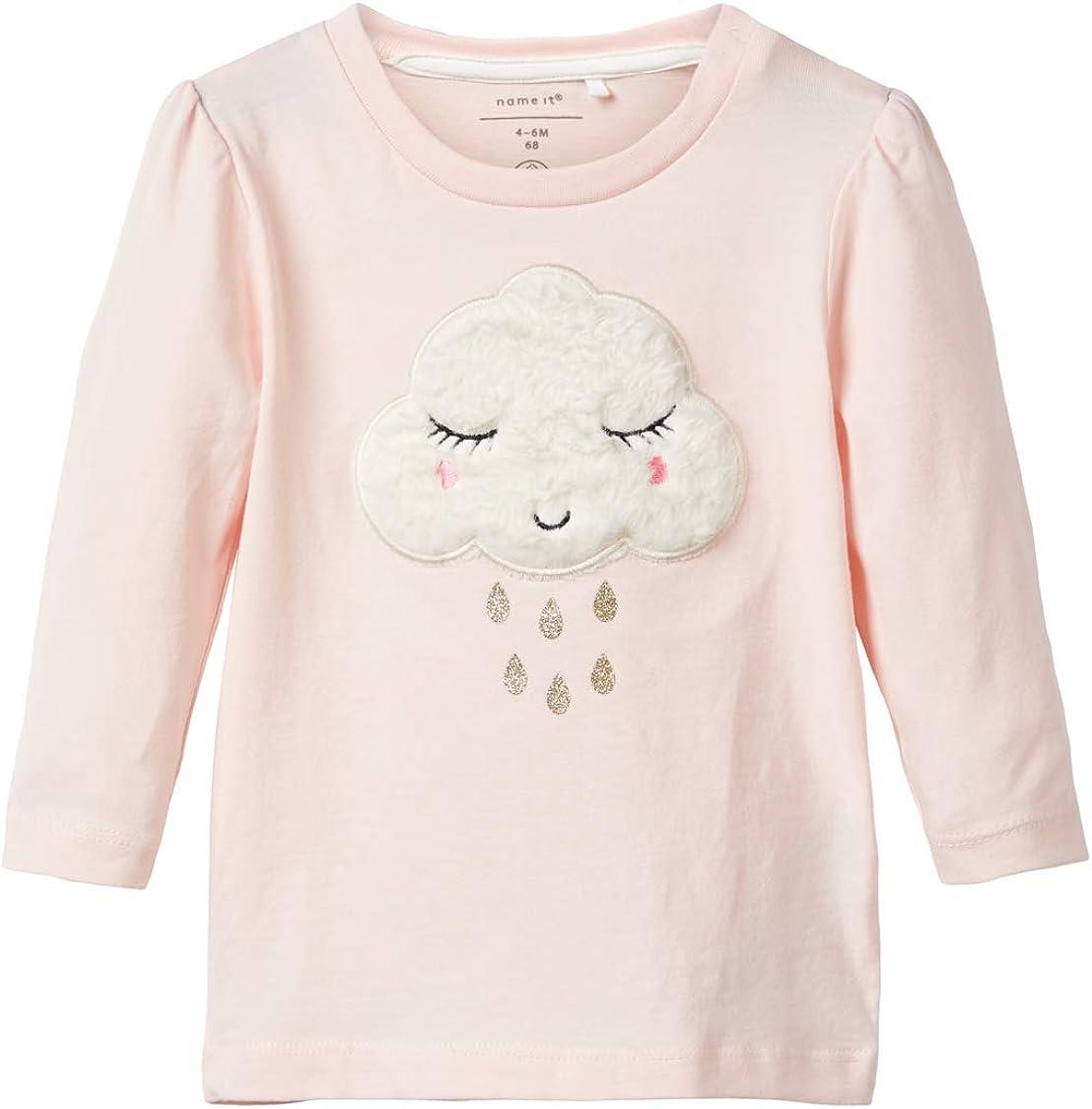 NAME IT Baby M/ädchen Langarmshirt NBFOXANA LS TOP Biobaumwolle