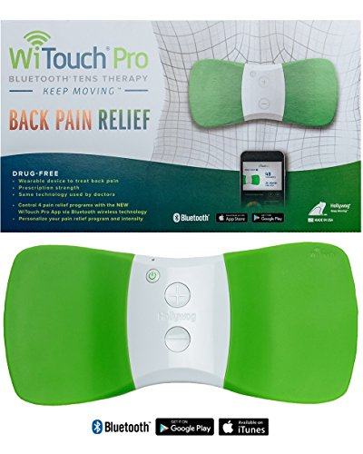WiTouch Pro Wireless Bluetooth TENS - Includes 6 Gel Pads (3 Pairs of Gel Pads) by Hollywog
