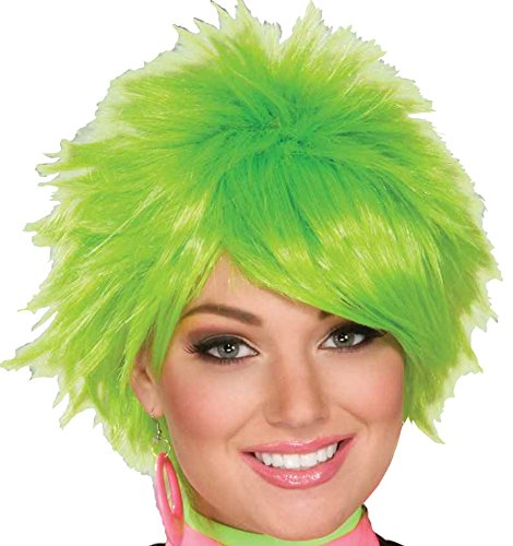 [Forum 1980's Pixie Wig  Green, One Size] (80s Chick Costume)