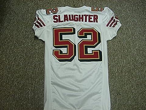 T.J. Slaughter San Francisco 49ers 2006 Game Worn Jersey(60th Anni (San Francisco Slaughter)