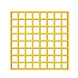 UniEco Fiberglass Grating 12''x12'' Molded Grating Commercial Grid Panels 6Pack Yellow
