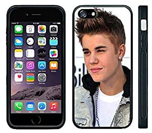 Apple iPhone 6 Black Rubber Silicone Case - Bieber Fever Justin never say never