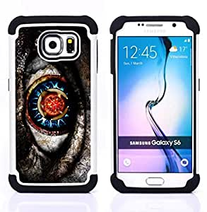 For Samsung Galaxy S6 G9200 - native sci-fi mysterious pattern grey Dual Layer caso de Shell HUELGA Impacto pata de cabra con im??genes gr??ficas Steam - Funny Shop -
