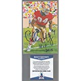 Charley Haley Goal Line Art Signed Autographed Beckett BAS C14409 - Beckett Authentication - College Programs