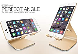 Spinido Aluminium Phone Stand Dock Holder for All iPhone and Smartphone - Gold