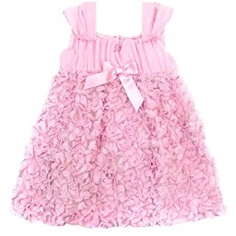 Miss Blumarine; (Italy) Baby Girls Fashion Pink Ruffle Party Dress (12-month)