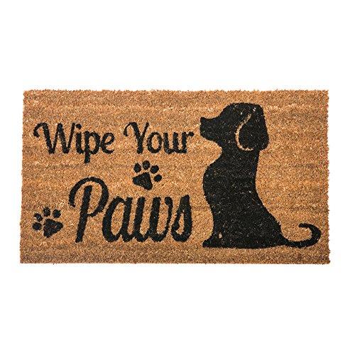 Wipe Your Paws Dog Welcome Coir Door Mat