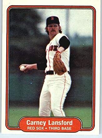 Amazoncom 1982 Fleer Baseball Card 298 Carney Lansford