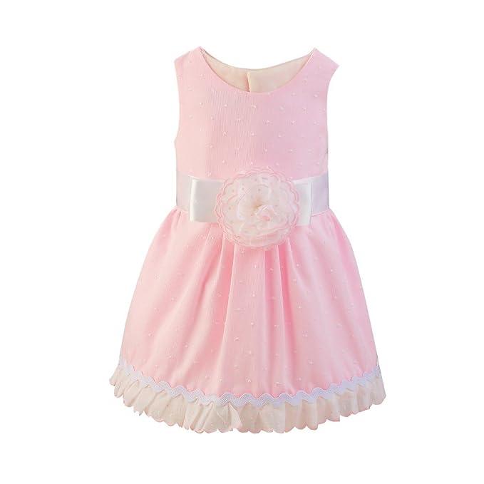 Vestido niña bebé rosa ABRIL _ vestido niña bebé verano, vestido niña ceremonia, vestido