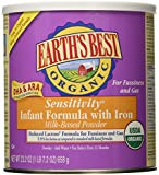 Earth's Best Organic, Sensitivity Infant Formula with Iron, 23.2 Ounce (Pack of 4) (Packaging May Vary)